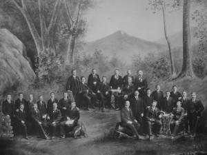 Die Sängerrunde Wildtal im Gründungsjahr 1912