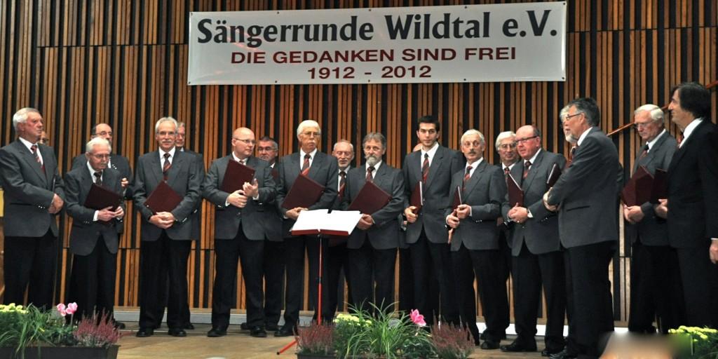 Die Sängerrunde Wildtal auf der Jubiläumsfeier am 27. Oktober 2012.   Foto: Herbert Geisler