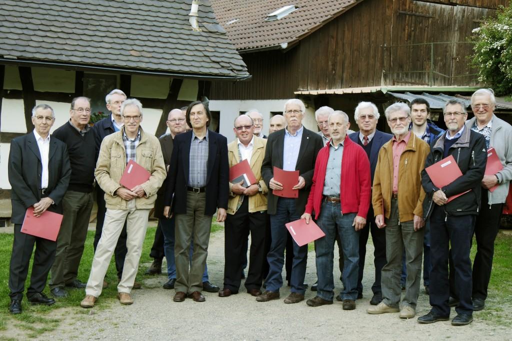 Die Sänger kurz vor dem Beginn der Maiandacht, veranstaltet von der Pfarrgemeinde Bruder-Klaus und St. Blasius